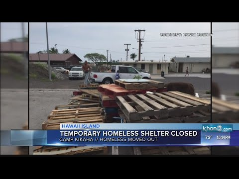 Temporary homeless shelter closes on the Big Island