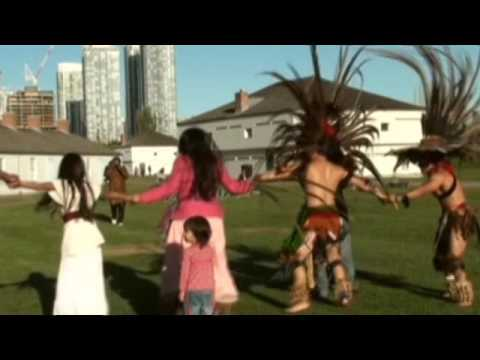 Aztec Dance Group -  At Fort York - LCCA & CANORAA Latin-Afro-First Nations Festival 2009