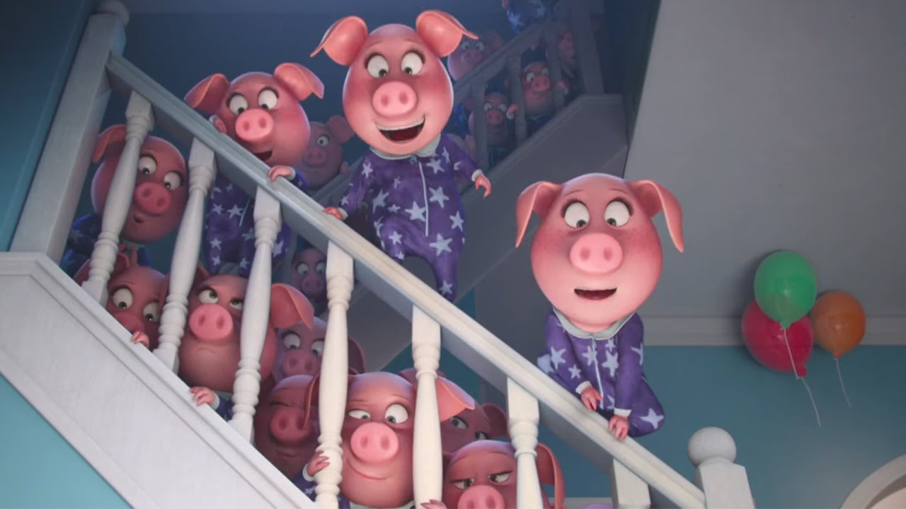 Sing Movie Coloring Pages Piglets Of Rosita Sing Coloring