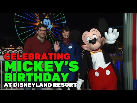 Celebrating Mickey Mouse's birthday at Disneyland Resort