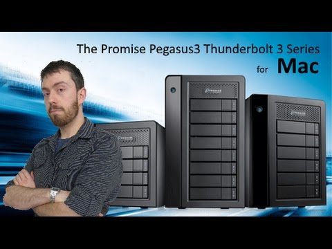 The Pegasus3 Symply Edition Featuring Thunderbolt 3 for Mac with the R8, R6 and R4