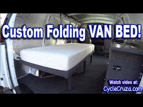 Bug Out Camper Van Build Part 4 Folding Bed Bwood Rv Mattress Review Portable Toilet