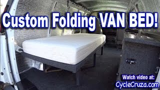 Bug Out Camper Van Build Part 4   Folding Bed   Brentwood RV Mattress Review   Portable Toilet