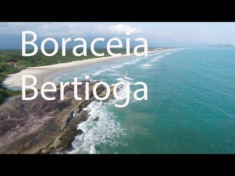 Lado sul da praia de Boraceia, Bertioga, SP, Setembro de 2017.