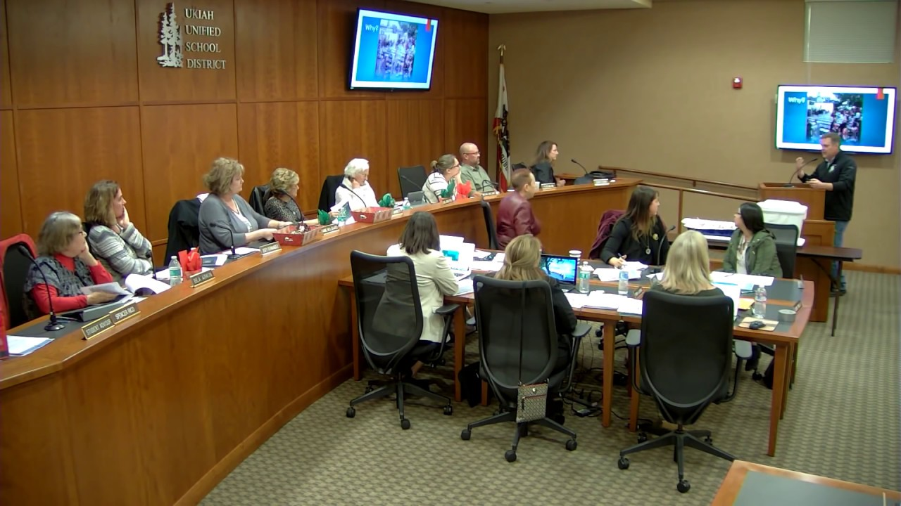 Ukiah Unified School Board Meeting – December 13, 2018