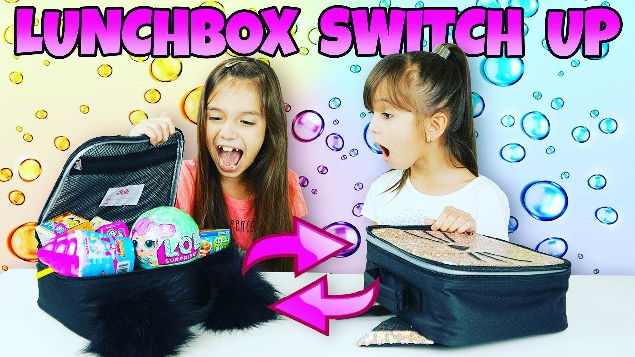 Switch It Up Toys : The lunchbox switch up challenge surprise toys vs real
