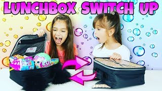 The LUNCHBOX SWITCH UP Challenge! Surprise Toys vs Real Food