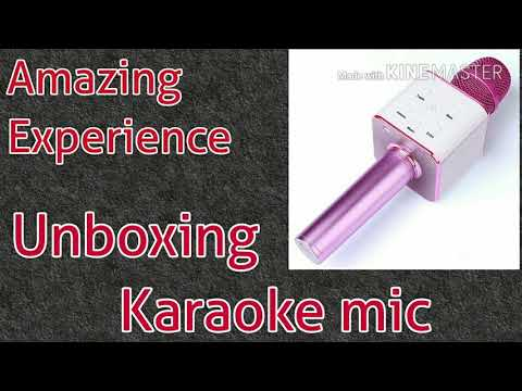 Unboxing Karaoke Mic from Amazon
