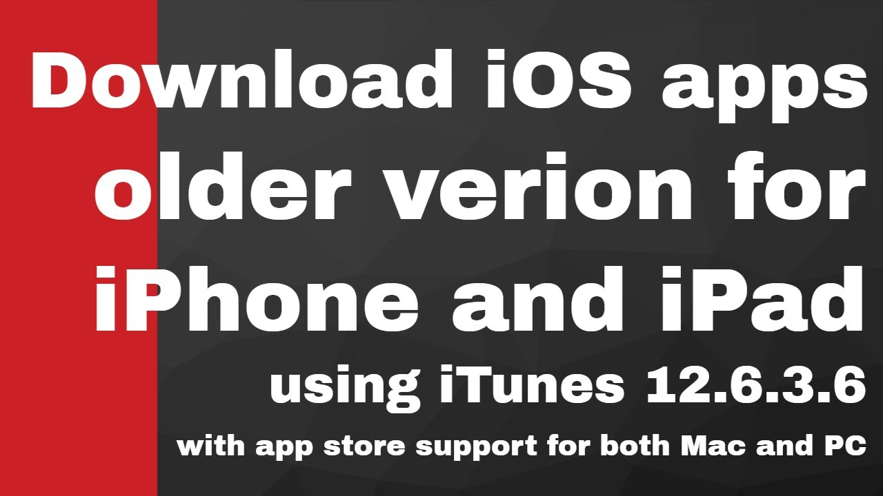 How to download older version ios 9 3 5 apps | iTunes 12 6 3 6 with Mac and  PC