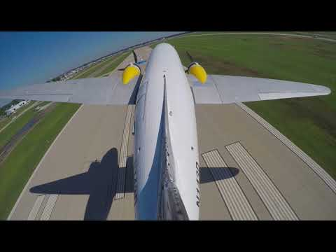 They let me LAND a DC-3! + Accidentally blasted a J3 Cub off taxiway - Flight VLOG