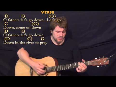 Down in the River to Pray - Strum Guitar Cover Lesson in G with Chords/Lyrics