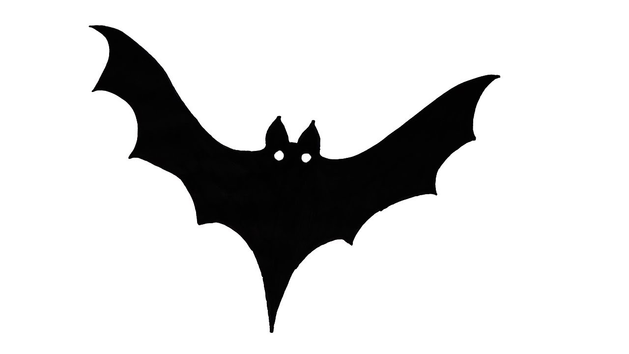 How to Draw a Scary Bat - Halloween - VERY EASY FOR KIDS ...