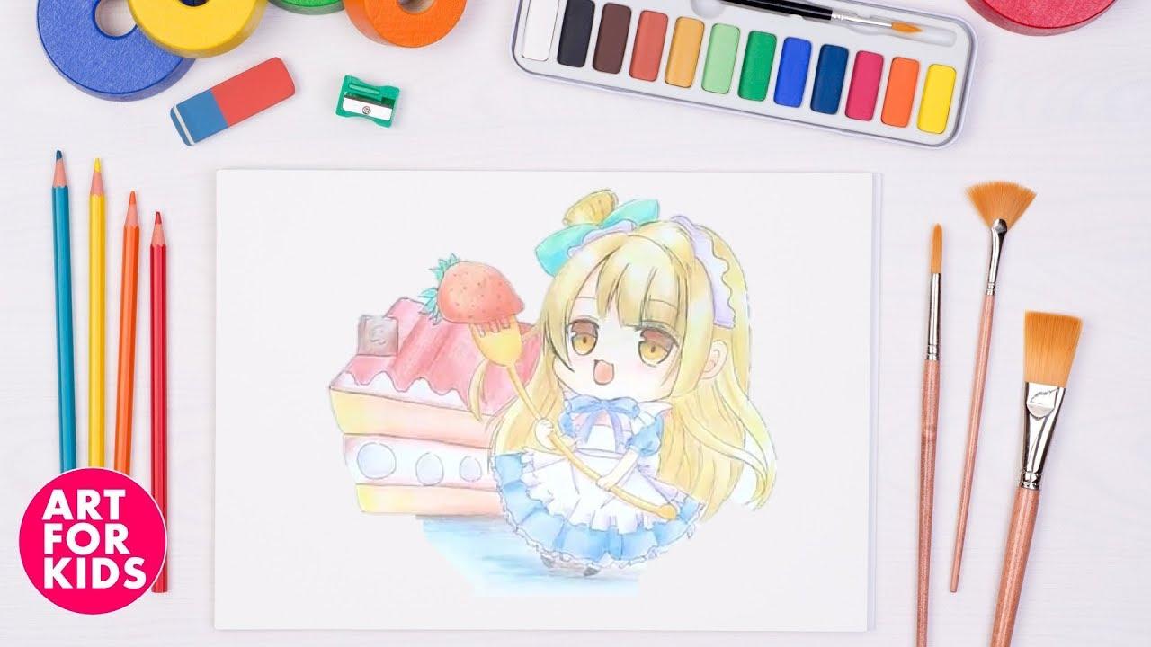 ✅ Dạy vẽ Thần tượng Kotori Minami chibi cho bé | Dạy bé vẽ | How to draw Kotori Minami chibi