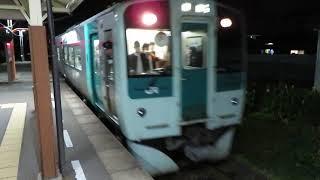 牟岐線1500形 南小松島駅到着 JR Shikoku Mugi Line 1500 series DMU