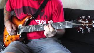 "Between the Buried and Me ""Telos"" guitar demonstration - Paul Waggoner"