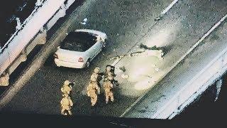 Голливудский боевик сняли полицейские в момент захвата «минера» моста в Киеве