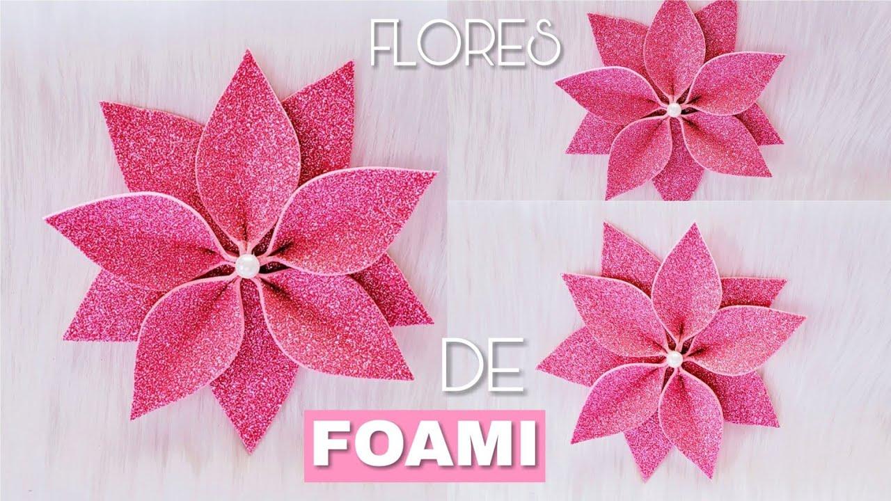 6c0f244b93e Aprende Cómo hacer una linda FLOR DE FOAMI🌺🌺How to make a flowers ...