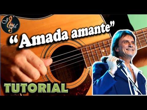 Como tocar AMADA AMANTE en guitarra con acordes fácil