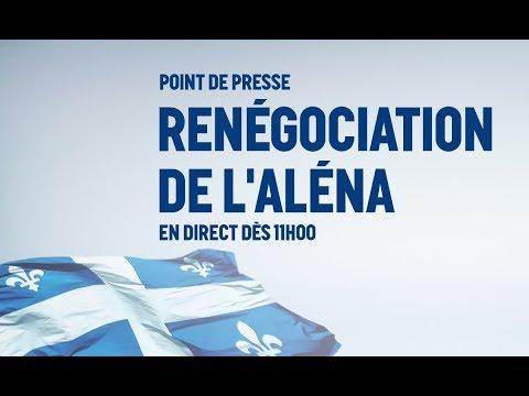 Point de presse sur la renégociation de l'ALÉNA