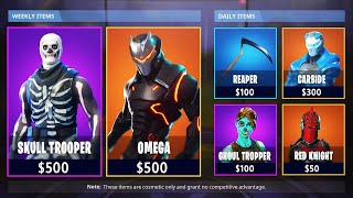 1000 $ Fortnite Locker Showcase! Max Omega, Skull Trooper et Max Carbide ! (Fortnite Rarest Skins)