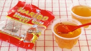 How to Make HARIBO Cola Jelly / Jello from Gummies (Recipe) グミでゼリー (レシピ)