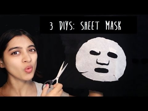 How To: DIY Sheet Mask | Glowing Skin, Lightening Tan Or Dark Spots & Acne  | SuperWowStyle