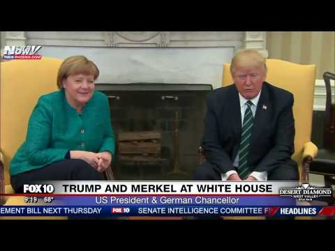 FNN: President Trump & German Chancellor Angela Merkel Photo Opp in Oval Office - No Handshake?