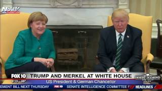 FNN: President Trump & German Chancellor Angela Merkel Photo Opp in Oval Office - No Handshake?
