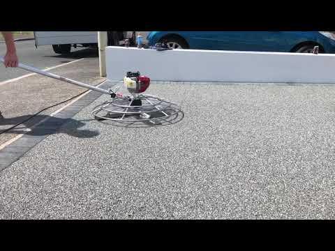 Resin bound driveway installation