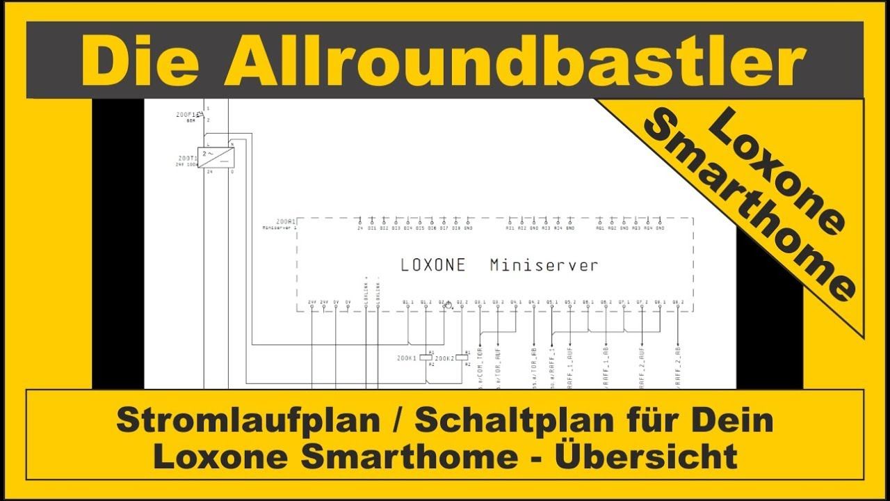 stromlaufplan schaltplan f r dein loxone smarthome. Black Bedroom Furniture Sets. Home Design Ideas