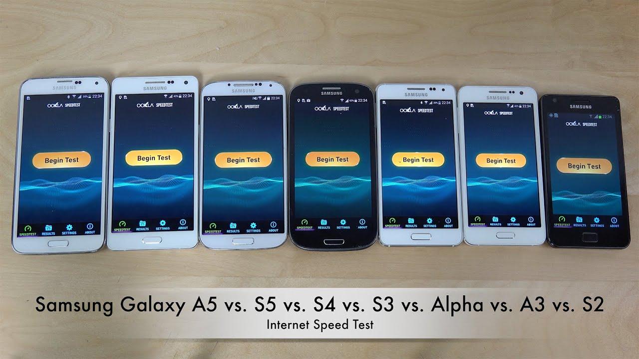 samsung galaxy a5 vs s5 vs s4 vs s3 vs alpha vs a3 vs s2 internet speed test youtube. Black Bedroom Furniture Sets. Home Design Ideas
