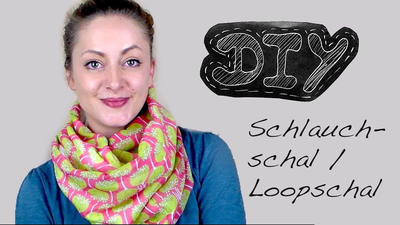 Nähanleitung Schlauchschal nähen - Loopschal Wendeschal Rundschal ...