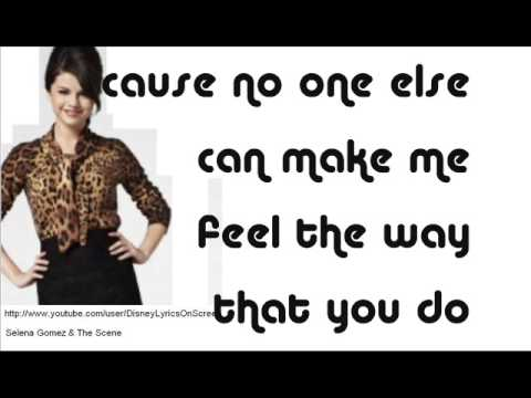 Selena Gomez & The Scene - I Promise You - Lyrics On Screen