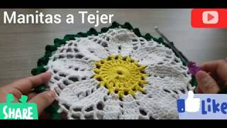 Flor Daysi a Crochet facil (Tapete o Mandala)