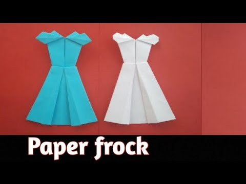 How to make Origami Frock with A4 Size,without glue & scissor,Paper dress making,