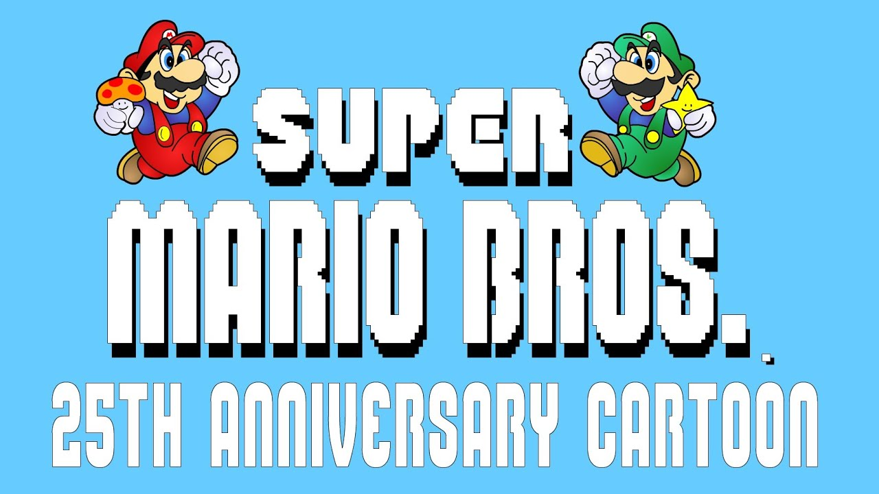 super mario bros 25th anniversary cartoon