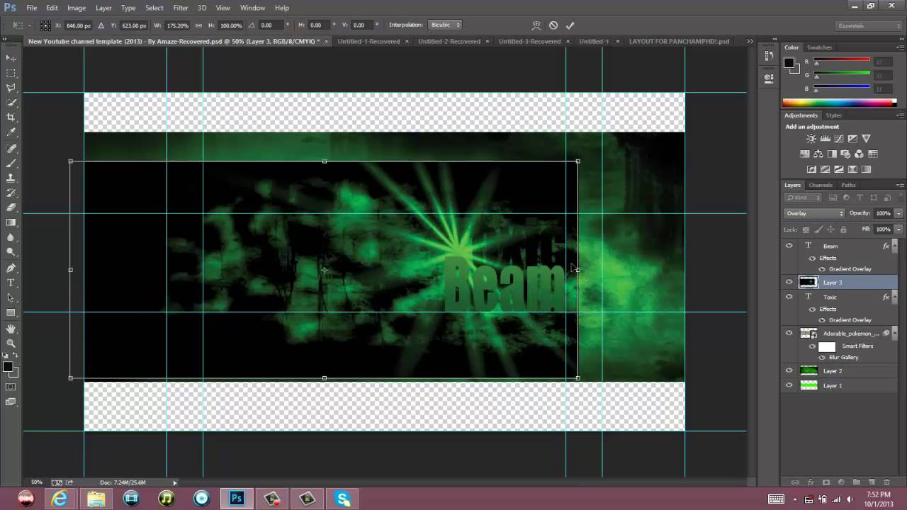 Download ToxicBeam Speedart Banner!: Check out his channel man! Made by me!