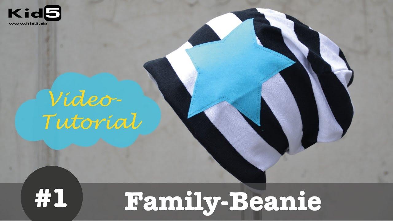 Beanie Mütze selber nähen - DIY-Näh-Tutorial - YouTube
