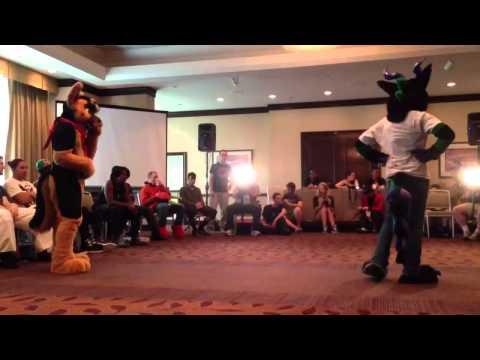 Anthrocon 2013 Floor Wars - Fursuit - Doryuu vs Elk Dragon