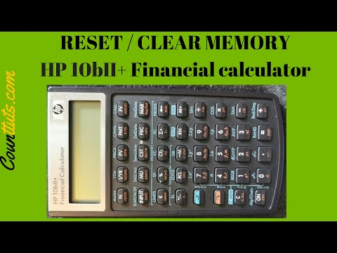 How to Clear & Reset Financial Calculator HP 10bII+