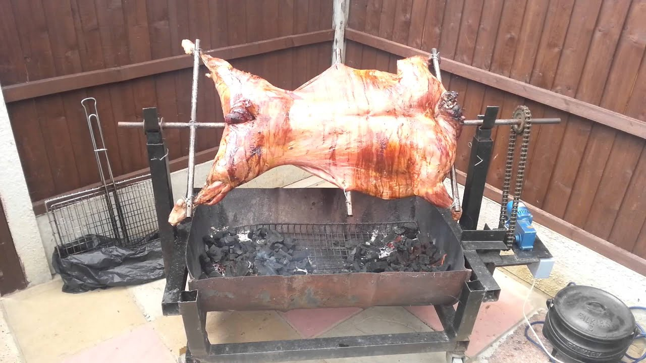 spit roast video