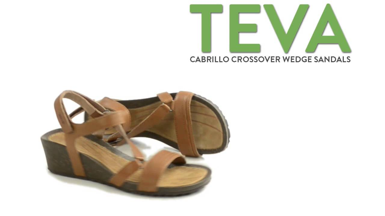 f64214f7ef16 Teva Cabrillo Crossover Wedge Sandals - Leather (For Women) - YouTube
