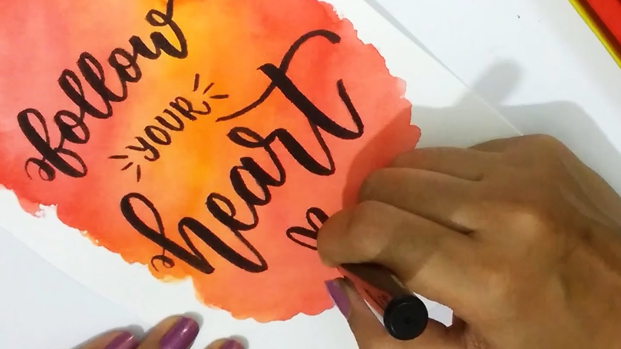 How to diy water color background using camlin brush pens for
