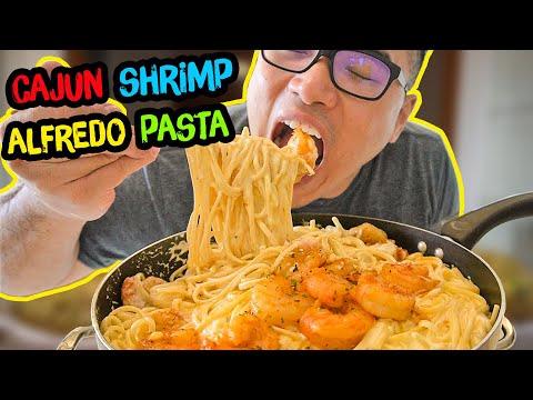 How To Cook Cajun SHRIMP ALFREDO PASTA