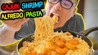 How to cook Cajun SHRIMP ALFREDO PASTA