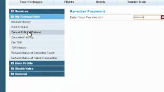 Cancel IRCTC Ticket Online