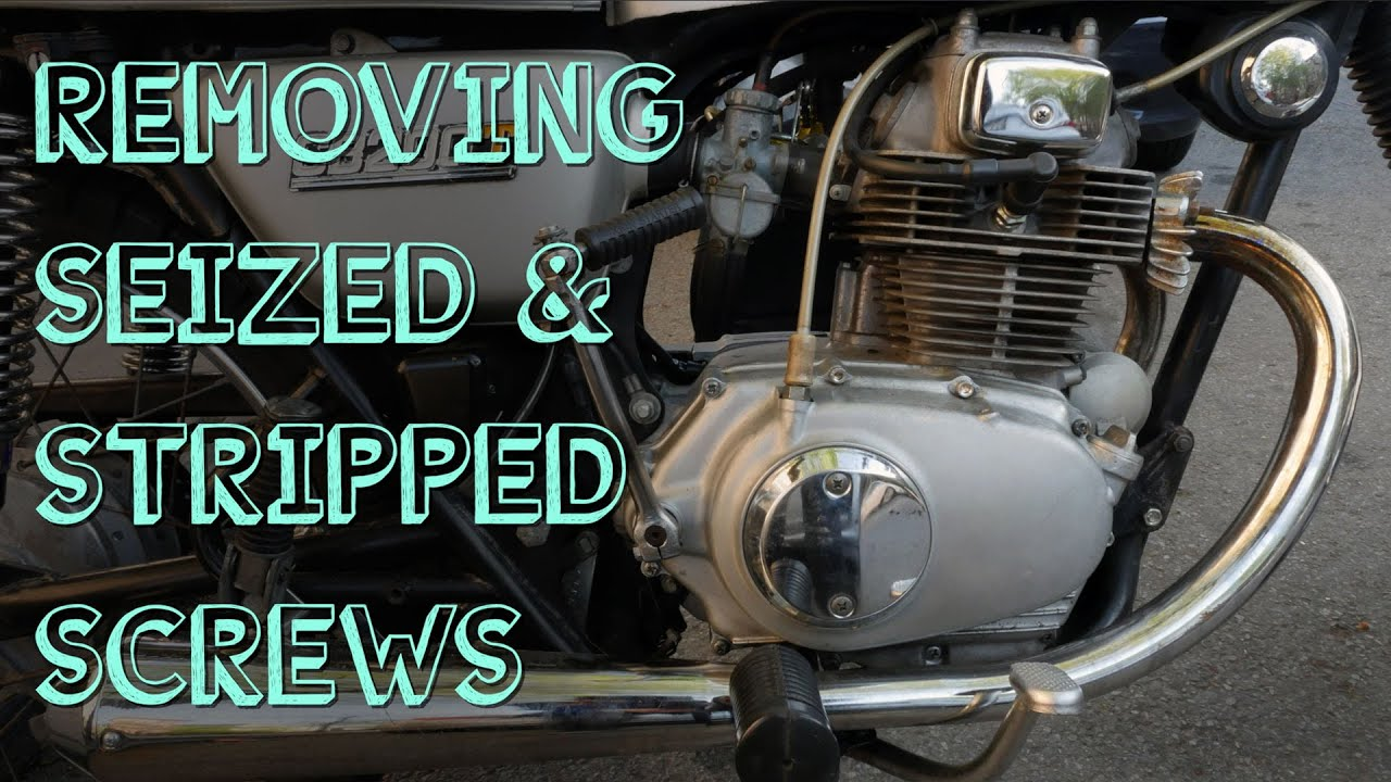 Remove Seized & Stripped Screws From Motorcycle Engine Covers: 8