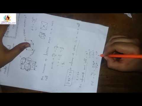 How to find Packing Fraction in simple,body centered,face centered cubic crystal 2018