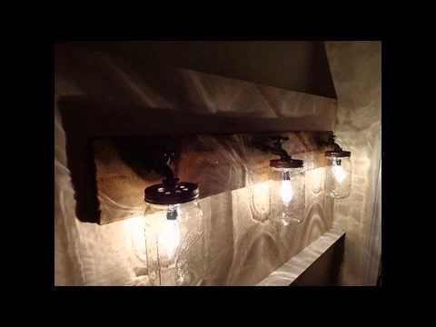 Creative Rustic bathroom lighting