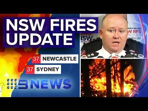 Latest NSW bushfire update from RFS, Premier | Nine News Australia